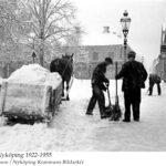 Fruängsgatan från Västra Kvarngatan mot Västra Storgatan. 1922-1955