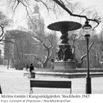 Kungsträdgården 1943, Molins fontän. Petersens, Lennart af