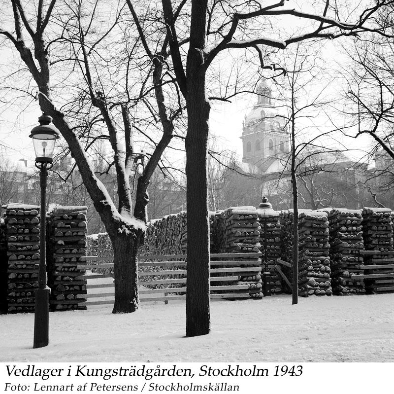 Kungsträdgården 1943 jan, Vedlager. Petersens, Lennart af