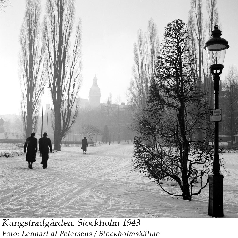 Kungsträdgården 1943 jan. Petersens, Lennart af